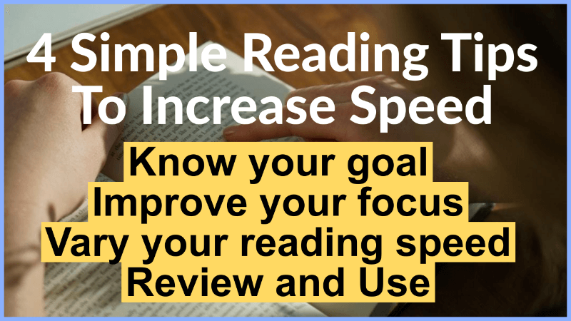 4 reading tips