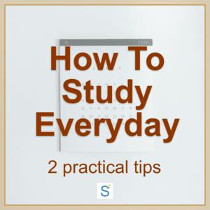 how to study everyday