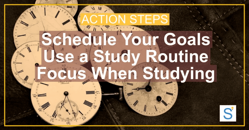 time for studying action steps