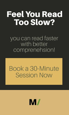 feel you read too slow?